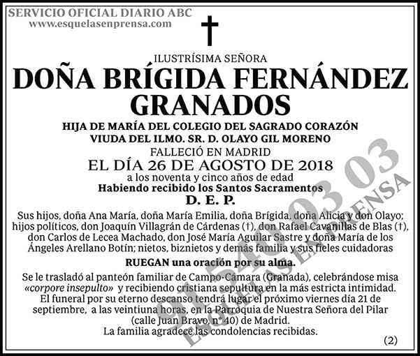 Brígida Fernández Granados